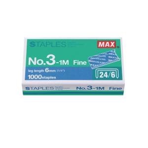 MAX No.24/6 (3-1M) Staples - Box of 1000