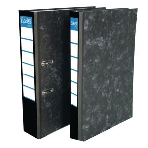 Bantex Basic Paper Board Lever Arch File Black 7cm