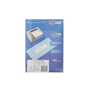 Unistat U4674 Label 105 x 42.3mm - Box of 1400 Labels