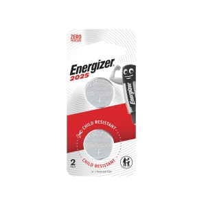 ENERGIZER ECR2025 LTHIUM BATTERY 3V - PACK OF 2