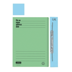 ABBA 102UK MANILA BLUE CARD FOLDER