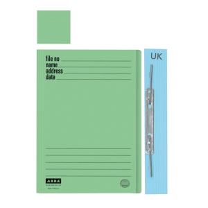 ABBA 102UK MANILA GREEN CARD FOLDER