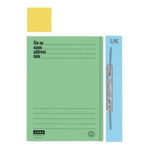 ABBA 102UK MANILA YELLOW CARD FOLDER