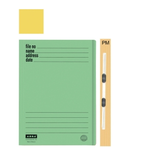 ABBA 102PM MANILA YELLOW CARD FOLDER