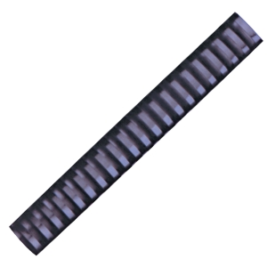 HATA BLACK PLASTIC COMBS 25MM - PACK OF 10