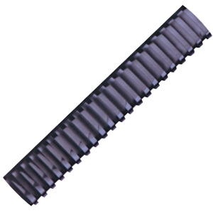 HATA BLACK PLASTIC COMBS 38MM - PACK OF 10