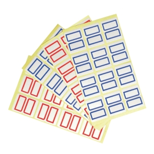 TACK RED INDEX STICKERS 7 X 18MM - 18 STICKERS X 10 SHEETS