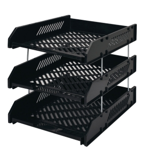 HORSEMAN 3 TIER BLACK PAPER TRAY