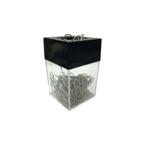 SQUARE ASSORTED COLOUR PAPER CLIPS DISPENSER