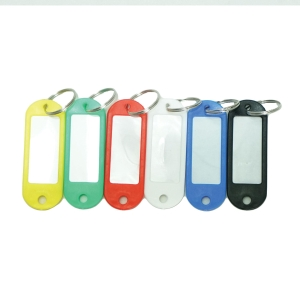PLASTIC ASSORTED COLOUR KEY TAG - PACK OF 50