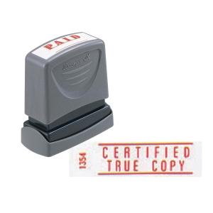 XStamper VX Self Inking Certified True Copy Stamp Red