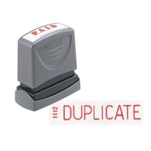 XStamper VX Self Inking By Duplicate Stamp Red