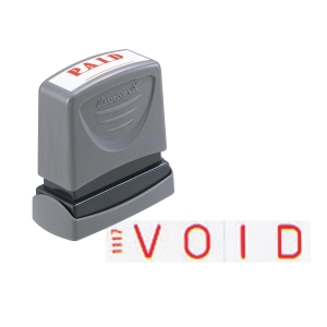 XSTAMPER VX SELF INKING RED VOID STAMP
