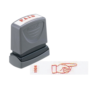 XStamper VX Self Inking Finger Point Right Stamp Red