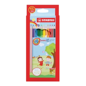 STABILO COLOUR PENCIL - 12 PIECES