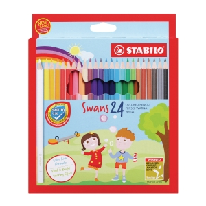 STABILO COLOUR PENCIL - 24 PIECES