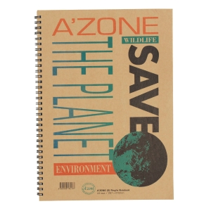 A zone Save The Planet A4 Wire Note Book 70gsm - 70 Sheets