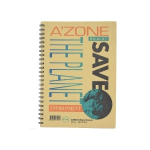 A zone Save The Planet A5 Wire Note Book 70gsm - 70 Sheets