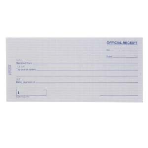 Besform Official Receipts Pre Printed Pad NCR 2 Ply - 2 X 50 Sheets