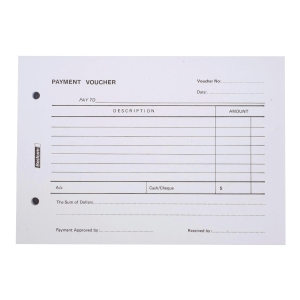 BESFORM PAYMENT VOUCHER PRE PRINTED PAD 1PLY 100 SHEETS