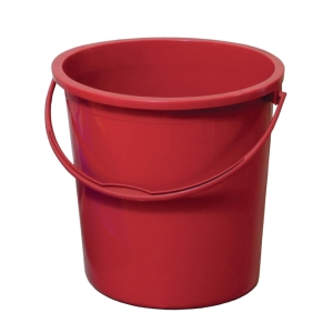RED WATER PAIL - 4 GALLON