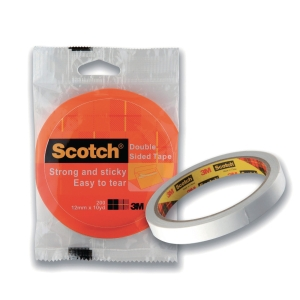 SCOTCH DOUBLE-SIDED TISSUE TAPE 18MM X 9M