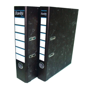 Bantex Pro A4 Card Board Lever Arch File Black 70mm