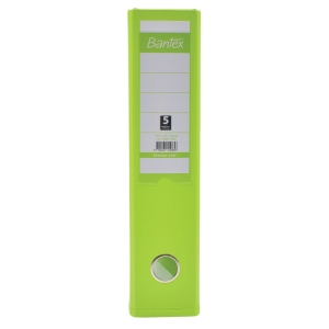 Bantex PVC Lever Arch File A4 3 inch Lime Green