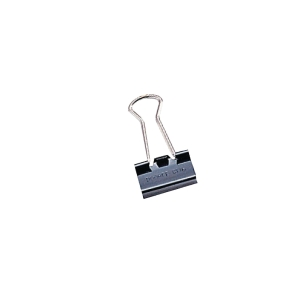 Black Binder Clips 19mm - Box of 12
