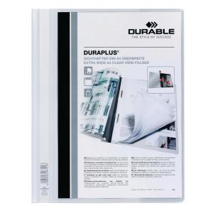 Durable Duraplus A4 Folder White - 80 Sheets Capacity