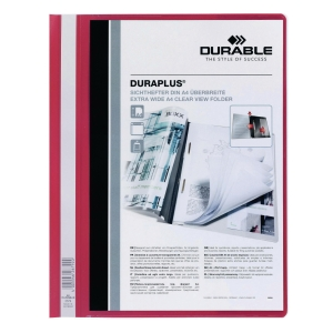 DURABLE DURAPLUS RED A4 FOLDER - 80 SHEETS CAPACITY