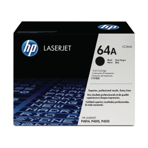 HP CC364A LaserJet Toner Cartridge (64A)- Black