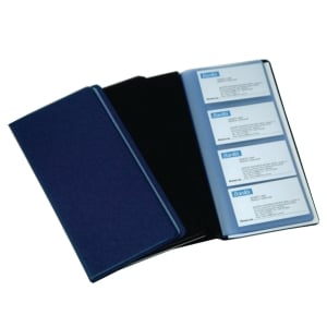 BANTEX PVC BLACK BUSINESS CARD ALBUM - 240 CARDS CAPACITY