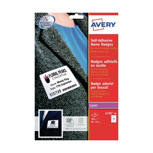 Avery L4784 Fabric Label 63.5 x 29.6mm - Pack of 405 Labels