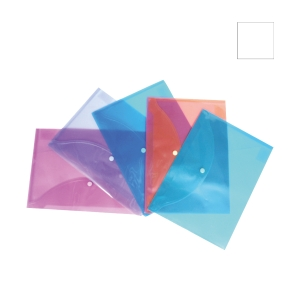 BANTEX CLEAR A4 SNAP WALLET - PACK OF 5