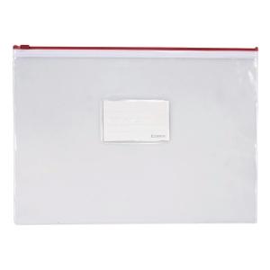 RED A4 ZIPPER BAG 223 X 330MM
