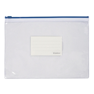 BLUE A4 ZIPPER BAG 223 X 330MM