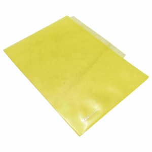 TRANSPARENT HOLDER WITH 4 DIVIDERS A4 YELLOW