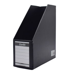 BANTEX COLLAPSIBLE BLACK A4 MAGAZINE FILE 12CM
