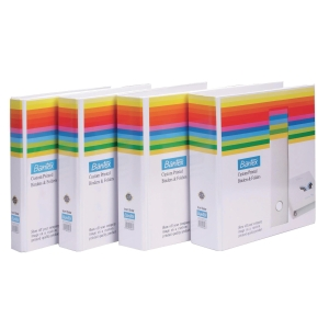 BANTEX BASIC WHITE A4 2D INSERT RING BINDER 25MM