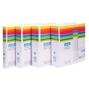 BANTEX BASIC WHITE A4 2D INSERT RING BINDER 65MM