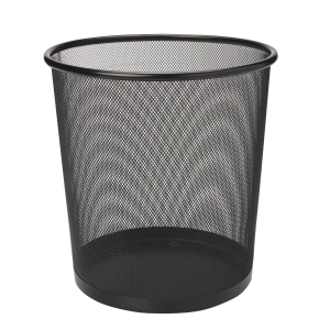 MESH METAL BLACK WASTE BIN 295 X 240 X 343MM