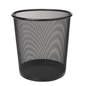 Mesh Metal Waste Bin Black 295 X 240 X 343mm