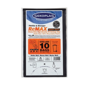 SEKOPLAS BLACK WASTE BAG 89 x 109CM - PACK OF 10