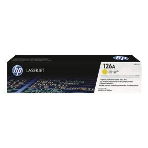 HP CE312A LaserJet Toner Cartridge (126A) - Yellow
