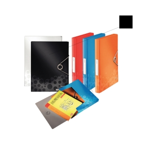 LEITZ BEBOP BLACK A4 FILING BOX PP 30MM