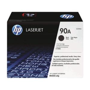 HP CE390A LaserJet Toner Cartridge (90A)- Black