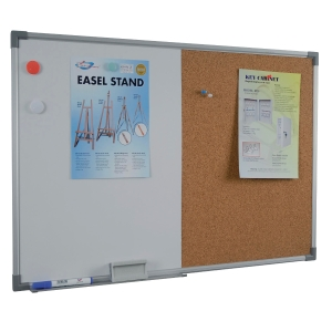 WRITEBEST COMBINATION WHITE BOARD+CORK NOTICE BOARD 60 X 90CM