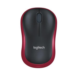 LOGITECH M185 RED WIRELESS MOUSE