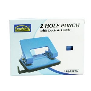 Suremark 2-Hole Purple Punch With Guide - 20 Sheets Capacity